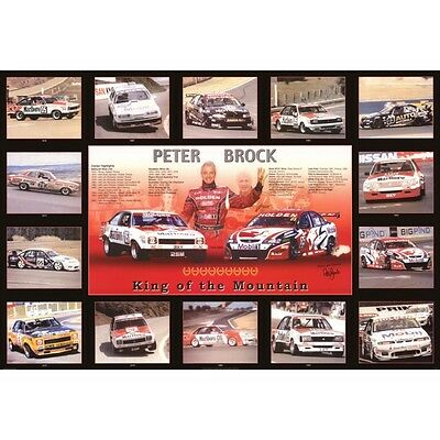 New Peter Brock King of the Mountain Signed Memorabilia Framed