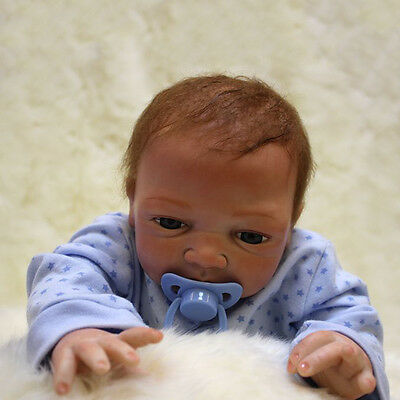 18'' Handmade Reborn Baby Doll Boy Girl Soft Vinyl Newborn Lifelike Baby Doll