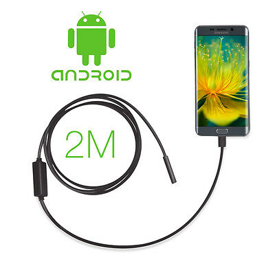 Hot 2M 6 LED Android Smartphone Endoscope Waterproof Snake Borescope USB Camera