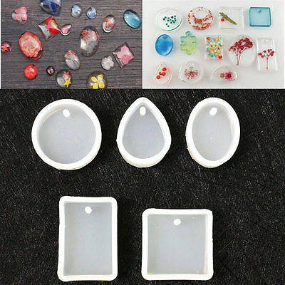 Silicone Mould for DIY Resin Necklace Pendant Crystal Jewellery Making Mold Tool