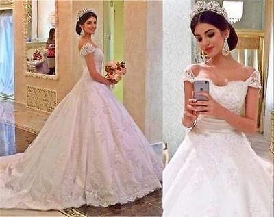 New wedding dress White/ivory Lace Bridal Gown Custom Size 6-8-10-12-14-16-18+++