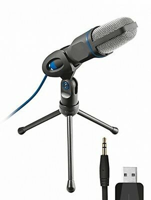 Trust Micro USB Microphone for PC and Laptop Includes Tripod/Studio Style *HQ*