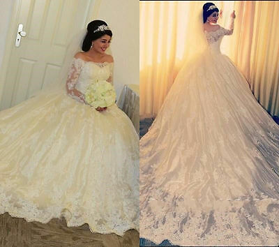 New White/ivory wedding dress Lace Bridal Gown Custom Size 6-8-10-12-14-16-18+++