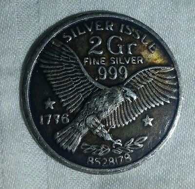 Silver Issue 2gr 999 Silver coin Eagle  1776 Free Shipping