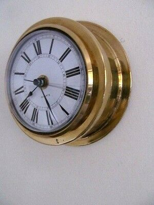 Ships Style Brass Vintage Clock Good Working Order