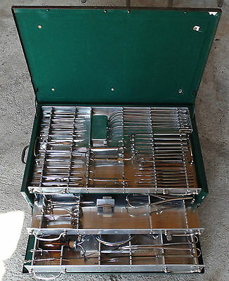 Antique Ww2 Germany Army Field Large Medical Surgical Tools Set Aesculap Wwii