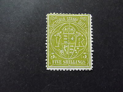 Victoria Stamp Duty 5/- Green  - Used