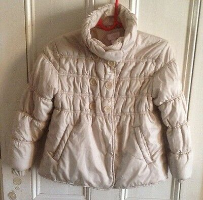 Girls Beige Next Padded Jacket Age 7-8