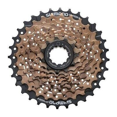 New Shimano CS-HG20-9 11-32 Tooth 9 Speed Bicycle Cassette MTB Bike Brown/Black