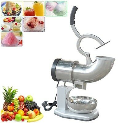 Electric Ice Shaver Machine Snow Cone Maker 440lbs Crusher Shaving Cold Drink @