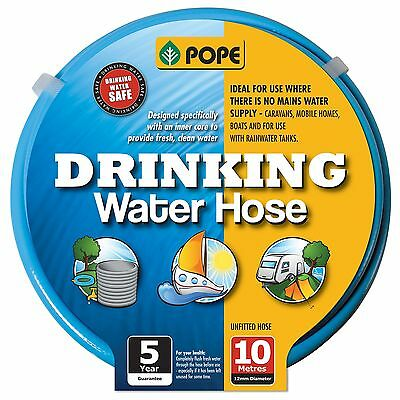Pope DRINKING WATER HOSE Smell Free, Kink Resistant, BLUE *Aust Brand -10 Or 20m