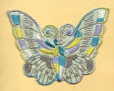 Turmac Tobacco Cigarette embroidery appliques silk Butterflies Med B69 Silks 1