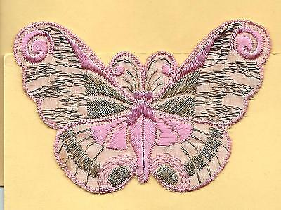 Turmac Tobacco Cigarette embroidery appliques silk Butterflies Med B72 Silks 1