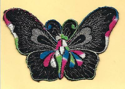 Turmac Tobacco Cigarette embroidery appliques silk Butterflies Med B84 Silks 1