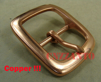 Solid Copper Belt Buckles Vintage Classical Tongue Pin Hippie for 40mm belt