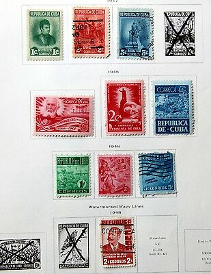 BARGAIN Album page of 1947 stamps (ref k4049)