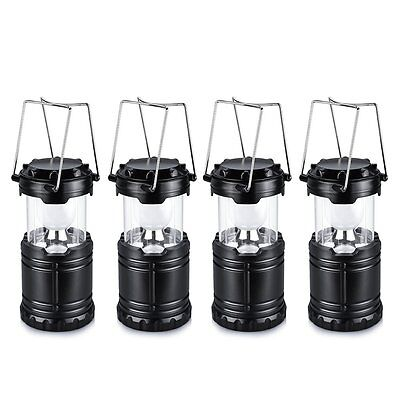 4Pcs 6 LED Portable Camping Lamp outdoor Hiking Night Fishing Tent Lantern Light