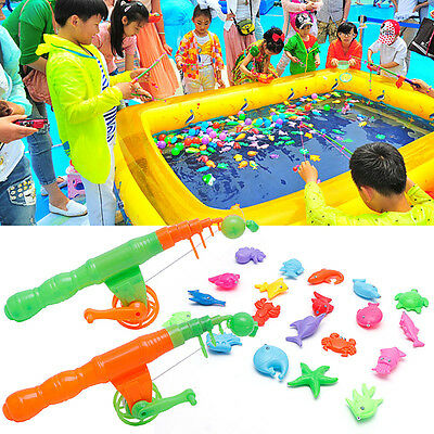 Magnetic Fishing Game Toy Rod Hook Catch Kids Children Bath Time Gift