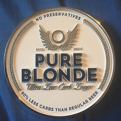 Pure Blonde Beer Tap Badge, Decal, Top Great Condition