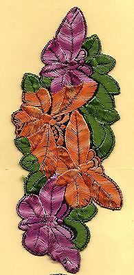 Turmac Tobacco Cigarette embroidery silk Butterfly on Flower A33 Silks 1