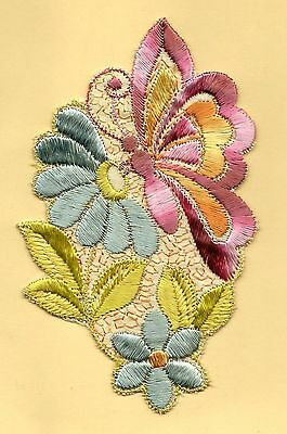 Turmac Tobacco Cigarette embroidery silk Butterfly on Flower A29 Silks 1