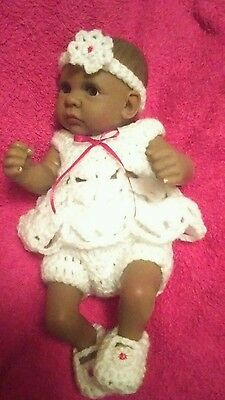 Hand made Angel top clothes set for 10 to 11 inch  reborn baby dolls