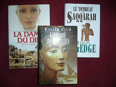lot de 3 romans  differents ecrivains