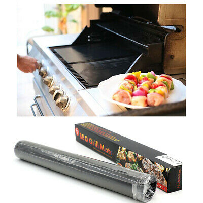 5PCS BBQ Grill Mat Sheet Resistant Reusable Non-Stick Barbecue Baking Bake Meat