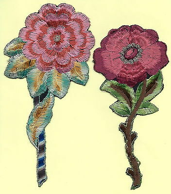 Turmac Tobacco Cigarette embroidered silk Large Flowers Silks 2