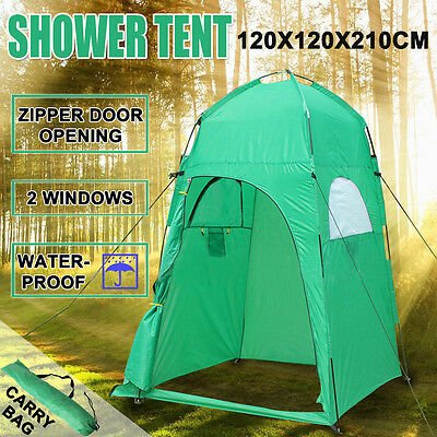Camping Shower Toilet Tent Outdoor Change Room Shelter Ensuite Zipper Privacy