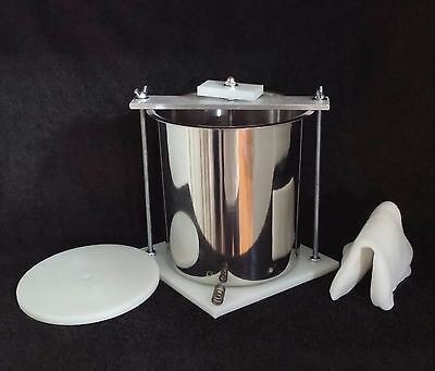 "Stainless Steel HDPE 6"" Spring Assisted Cheese Press"