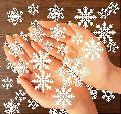 Snow Snowflake Window Decal Clings Reusable Sticker Christmas Winter Decorations