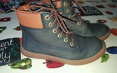Boys Size 12 Timberland Navy Blue Boots