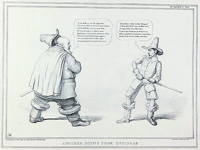 Another Scene from Hudibras (Daniel O'Connell) Litho by John (HB) Doyle - 1837