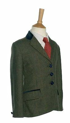 New Tagg Childrens Fife Moss Green Tweed Show Jacket 24''