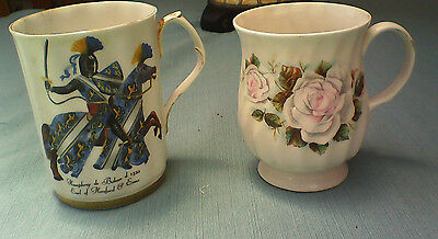 Two Cups, One Royal Windsor And One Hitkari Potteries
