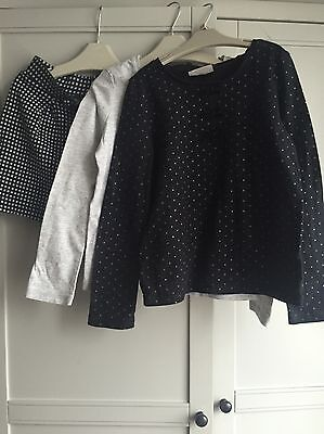 Next Girls 2x Tops And 1x Shorts 5-6 Years