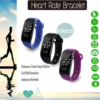 Smart Watch Wristband Heart Rate Bracelet Bluetooth Pedometer Monitor Call/SMS