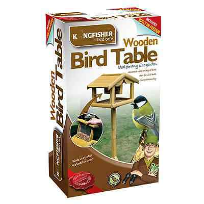 Premium Deluxe Wooden Table With Built In Nut Feeder Free Standing Bird Lovers