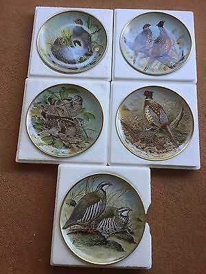 Franklin Porcelain Collector Plates Game Birds Of The World 5 plates in total