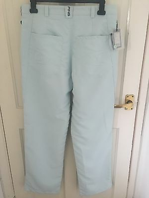 New Ladies Ping Sonic Golf Trousers Chalk Blue Size 14 UK W31 L32