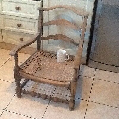 Antique/ Vintage Small Cane Bottom Chair