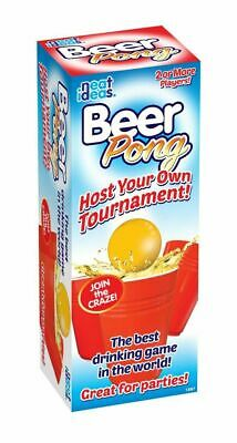 Beer Pong Drinking Game Set 24 Cups Balls Party Pub Gift Kit Ping Great Fun Xmas