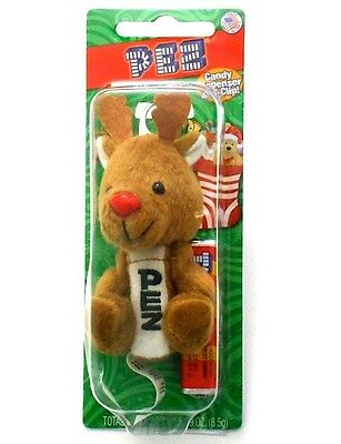 """Pez 4"""" Rudolph Reindeer Christmas Candy Dispenser & Clip Keychain NEW IN PACKAGE"""