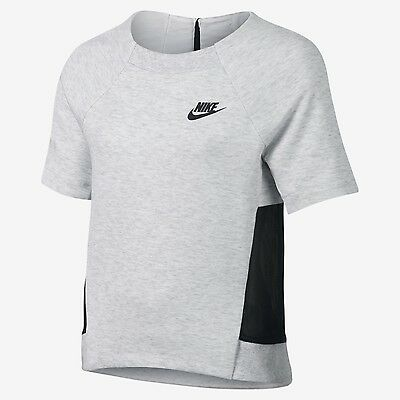 Nike Girl's Tech Fleece Mesh Short Sleeve Top - Age 8-10 Years - New with Tags