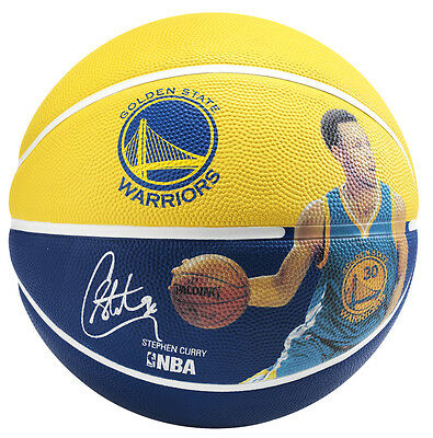 SPALDING Steph Curry NBA Rubber Basketball --- priced to clear