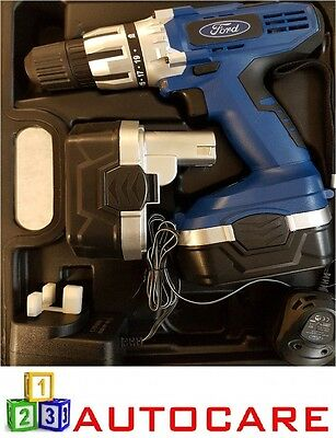 FORD TOOLS 18v Cordless Drill / Screwdriver in Case - Inc. 2x NICD Batteries