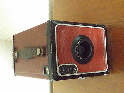 Vintage Kodak Brownie No 2 Box Camera, Red