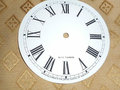 For American Clocks-Round Seth Thomas Paper Clock Dial-125mm M/T-Roman Numerals