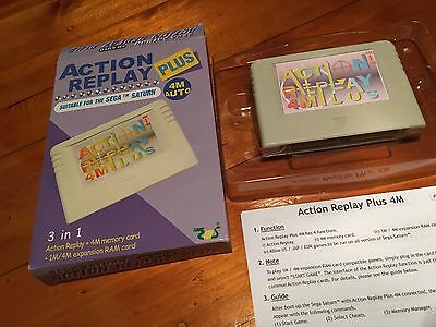Sega Saturn: Action Replay Cart 4M/1M: Flashed with PSEUDO SATURN 0.832 Modchip!